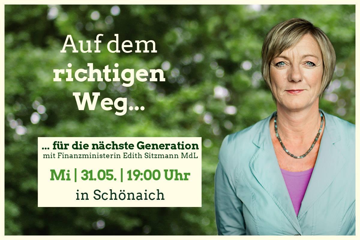 Auf dem richtigen Weg – mit Edith Sitzmann, Finanzministerin BW